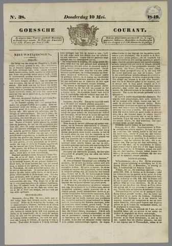 Goessche Courant 1849-05-10