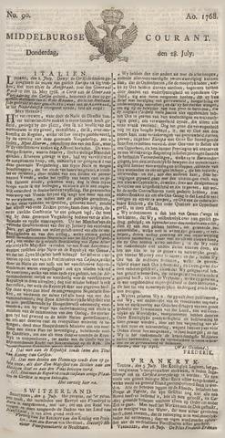 Middelburgsche Courant 1768-07-28
