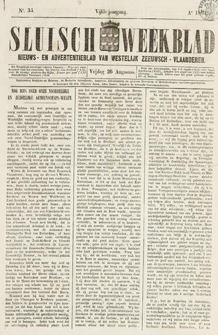 Sluisch Weekblad. Nieuws- en advertentieblad voor Westelijk Zeeuwsch-Vlaanderen 1864-08-26