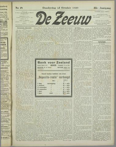 De Zeeuw. Christelijk-historisch nieuwsblad voor Zeeland 1920-10-21