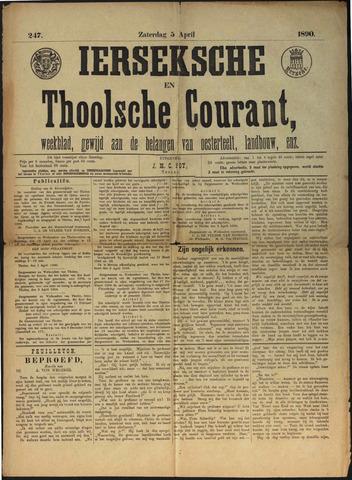 Ierseksche en Thoolsche Courant 1890