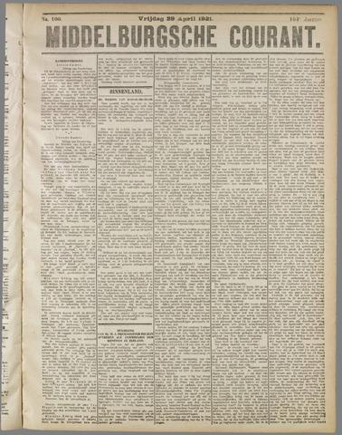 Middelburgsche Courant 1921-04-29