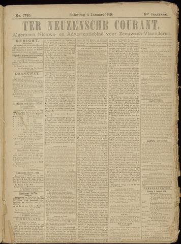 Ter Neuzensche Courant. Algemeen Nieuws- en Advertentieblad voor Zeeuwsch-Vlaanderen / Neuzensche Courant ... (idem) / (Algemeen) nieuws en advertentieblad voor Zeeuwsch-Vlaanderen 1919-01-04