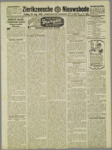 Zierikzeesche Nieuwsbode 1924-08-29