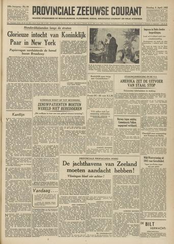 Provinciale Zeeuwse Courant 1952-04-08