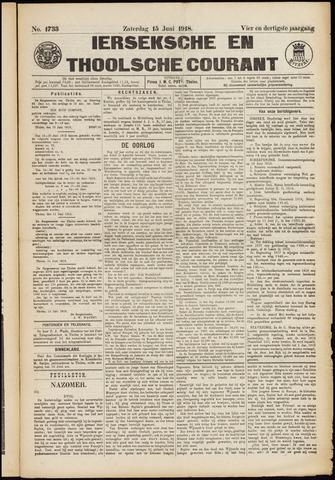 Ierseksche en Thoolsche Courant 1918-06-15