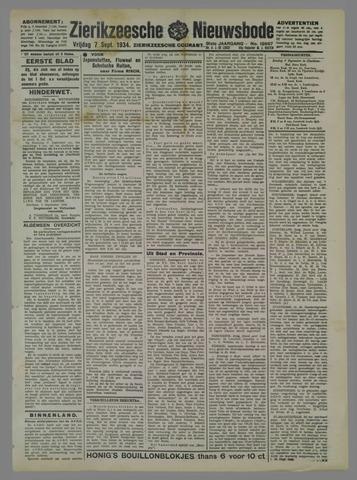 Zierikzeesche Nieuwsbode 1934-09-07