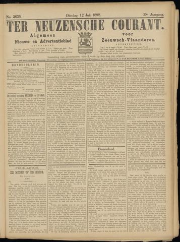 Ter Neuzensche Courant. Algemeen Nieuws- en Advertentieblad voor Zeeuwsch-Vlaanderen / Neuzensche Courant ... (idem) / (Algemeen) nieuws en advertentieblad voor Zeeuwsch-Vlaanderen 1898-07-12