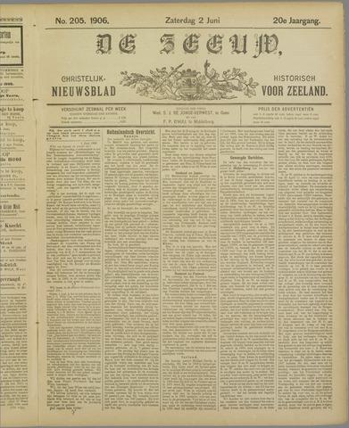 De Zeeuw. Christelijk-historisch nieuwsblad voor Zeeland 1906-06-02