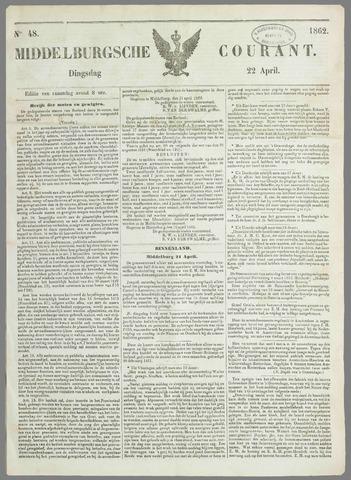 Middelburgsche Courant 1862-04-22