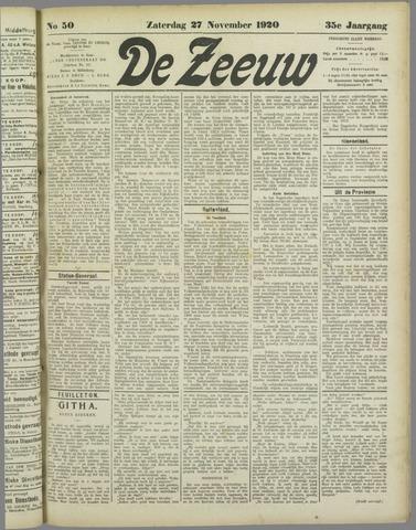 De Zeeuw. Christelijk-historisch nieuwsblad voor Zeeland 1920-11-27