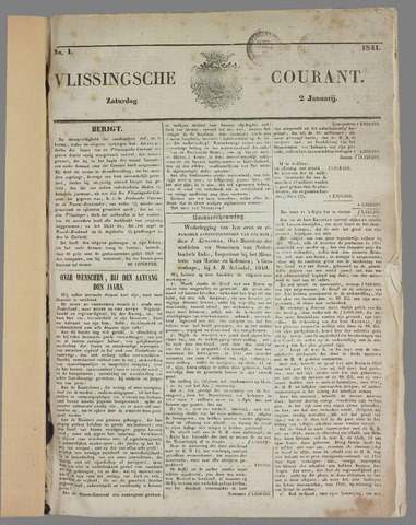 Vlissingse Courant 1841