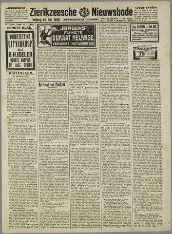 Zierikzeesche Nieuwsbode 1922-07-14