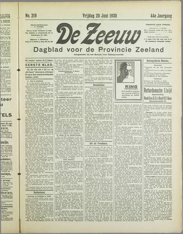 De Zeeuw. Christelijk-historisch nieuwsblad voor Zeeland 1930-06-20