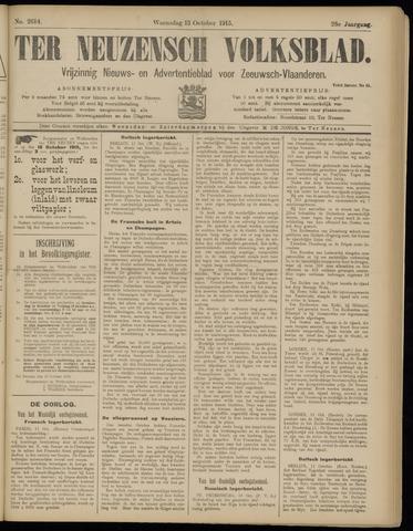 Ter Neuzensch Volksblad. Vrijzinnig nieuws- en advertentieblad voor Zeeuwsch- Vlaanderen / Zeeuwsch Nieuwsblad. Nieuws- en advertentieblad voor Zeeland 1915-10-13