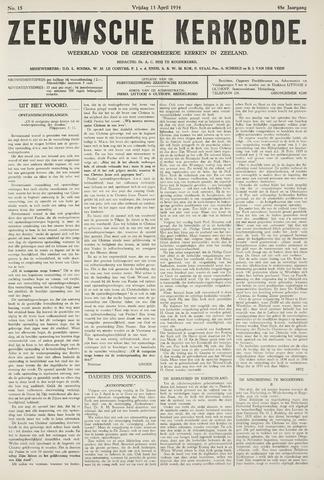 Zeeuwsche kerkbode, weekblad gewijd aan de belangen der gereformeerde kerken/ Zeeuwsch kerkblad 1934-04-13