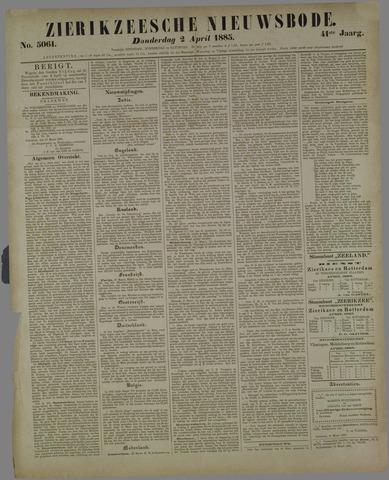 Zierikzeesche Nieuwsbode 1885-04-02