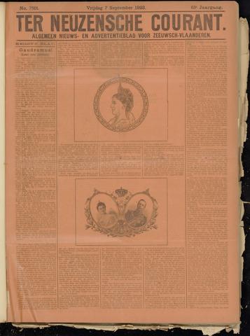 Ter Neuzensche Courant. Algemeen Nieuws- en Advertentieblad voor Zeeuwsch-Vlaanderen / Neuzensche Courant ... (idem) / (Algemeen) nieuws en advertentieblad voor Zeeuwsch-Vlaanderen 1923-09-07