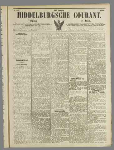 Middelburgsche Courant 1906-06-15
