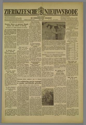 Zierikzeesche Nieuwsbode 1952-08-29