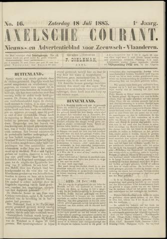 Axelsche Courant 1885-07-18