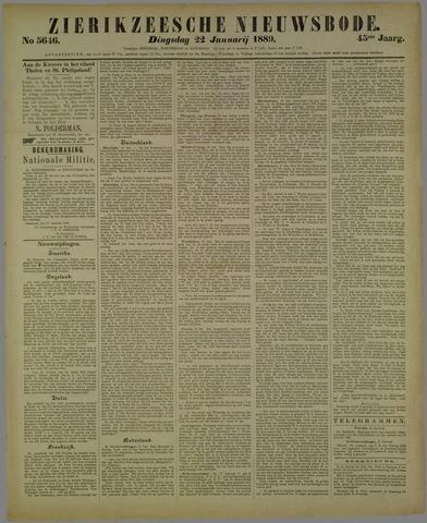 Zierikzeesche Nieuwsbode 1889-01-22