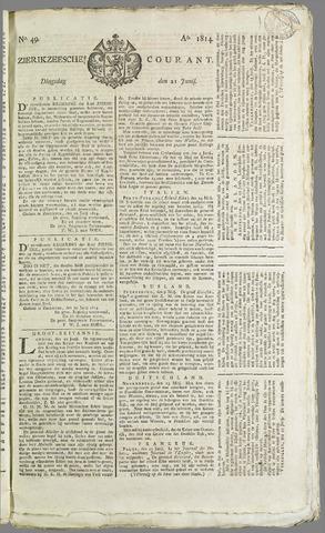 Zierikzeesche Courant 1814-06-21