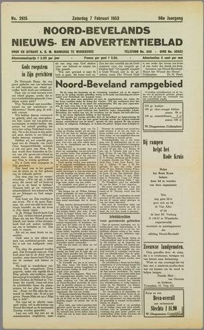 Noord-Bevelands Nieuws- en advertentieblad 1953-02-07