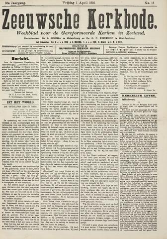 Zeeuwsche kerkbode, weekblad gewijd aan de belangen der gereformeerde kerken/ Zeeuwsch kerkblad 1921-04-01