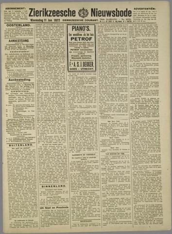 Zierikzeesche Nieuwsbode 1922-01-11