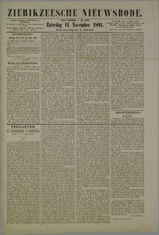 Zierikzeesche Nieuwsbode 1891-11-14