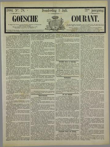 Goessche Courant 1884-07-03