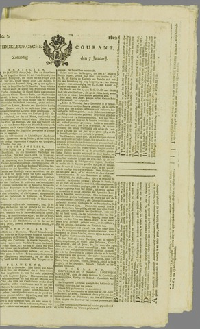 Middelburgsche Courant 1809-01-07