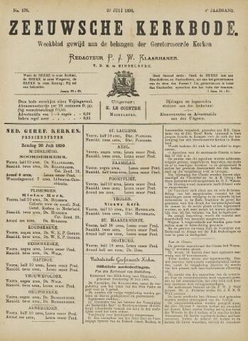 Zeeuwsche kerkbode, weekblad gewijd aan de belangen der gereformeerde kerken/ Zeeuwsch kerkblad 1890-07-20