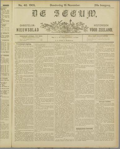 De Zeeuw. Christelijk-historisch nieuwsblad voor Zeeland 1905-11-16
