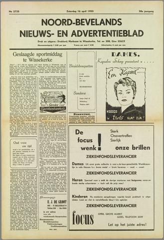 Noord-Bevelands Nieuws- en advertentieblad 1955-04-16