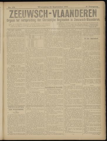 Luctor et Emergo. Antirevolutionair nieuws- en advertentieblad voor Zeeland / Zeeuwsch-Vlaanderen. Orgaan ter verspreiding van de christelijke beginselen in Zeeuwsch-Vlaanderen 1919-09-24