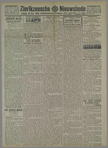 Zierikzeesche Nieuwsbode 1932-11-25