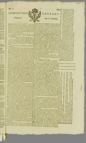 Middelburgsche Courant 1809-01-17