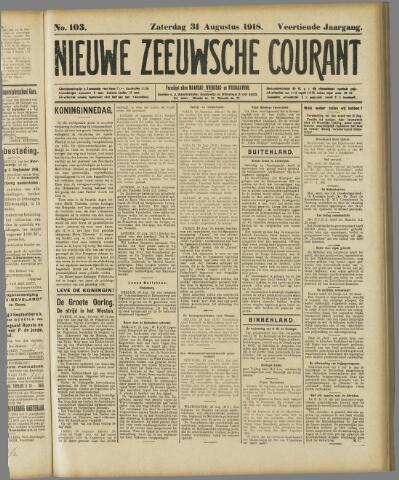 Nieuwe Zeeuwsche Courant 1918-08-31