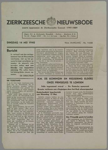 Zierikzeesche Nieuwsbode 1940-05-14
