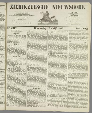 Zierikzeesche Nieuwsbode 1863-07-22