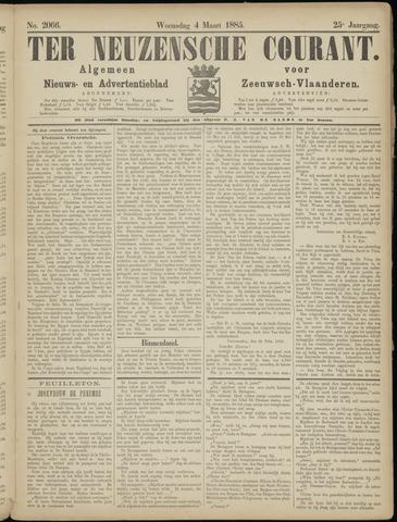 Ter Neuzensche Courant. Algemeen Nieuws- en Advertentieblad voor Zeeuwsch-Vlaanderen / Neuzensche Courant ... (idem) / (Algemeen) nieuws en advertentieblad voor Zeeuwsch-Vlaanderen 1885-03-04