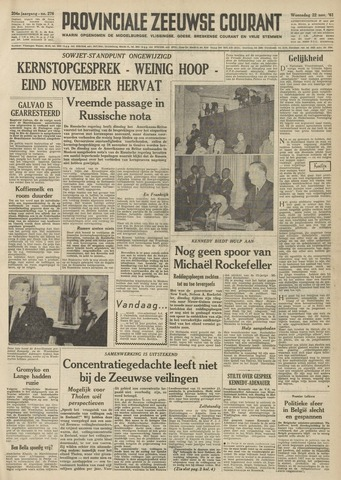 Provinciale Zeeuwse Courant 1961-11-22
