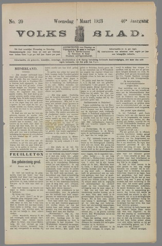Volksblad 1923-03-07