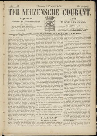 Ter Neuzensche Courant. Algemeen Nieuws- en Advertentieblad voor Zeeuwsch-Vlaanderen / Neuzensche Courant ... (idem) / (Algemeen) nieuws en advertentieblad voor Zeeuwsch-Vlaanderen 1879-02-01
