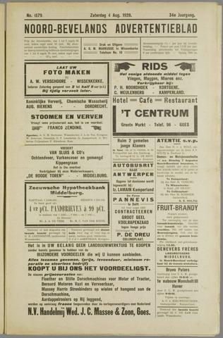 Noord-Bevelands Nieuws- en advertentieblad 1928-08-04