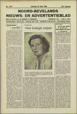Noord-Bevelands Nieuws- en advertentieblad 1950-04-29