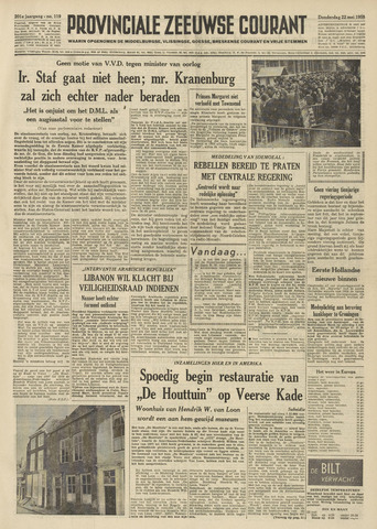 Provinciale Zeeuwse Courant 1958-05-22