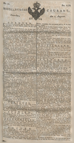 Middelburgsche Courant 1777-08-02